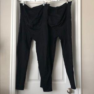 Blanqi maternity leggings, size XL - 2 pairs